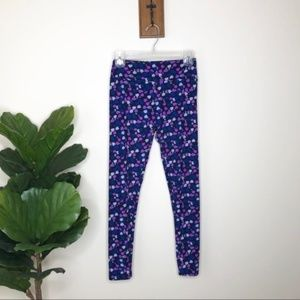 LuLaRoe purple dotted leggings